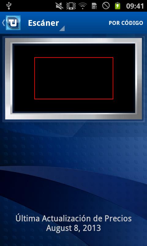 pantalla de entrada